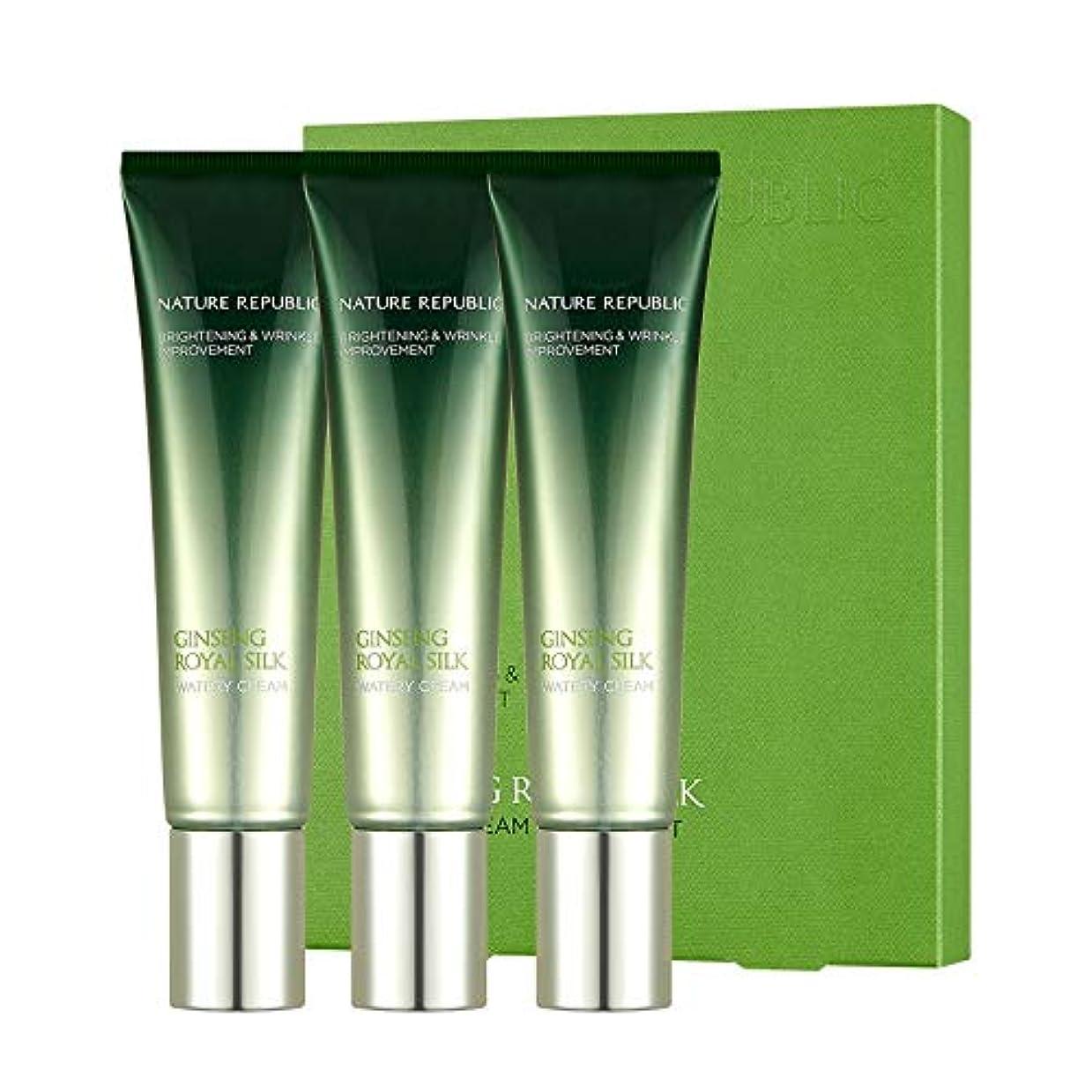 前提条件たまにおもしろいネイチャーリパブリック(Nature Republic)ジンセンロイヤルシルクウォーターリークリーム(30mlX3) / Ginseng Royal Silk Watery Cream (30mlX3) :: 韓国コスメ...