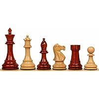 British Stauntonチェスセットin African Padauk & Boxwood – 3.5