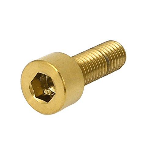 uxcell ヘキサン六角穴付きボルト M5x15mm ゴールドトーン TC4チタン ソケットヘッドキャップ メトリック DIN 912