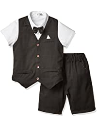 (チェリーレッド) CherryRed 男の子 Tシャツ フォーマルスーツ チェック柄