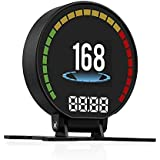 2.8 インチ TFT LCD スクリーンの HUD ヘッドアップ表示 OBD2 車 ヘッド 新しい機能を備えたディスプレイ