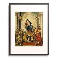 アントニオ・アッレグリ・ダ・コレッジョ Antonio Allegri da Correggio 「聖フランチェスコの聖母 The Madonna of Saint Francis. 1514/15」 額装アート作品