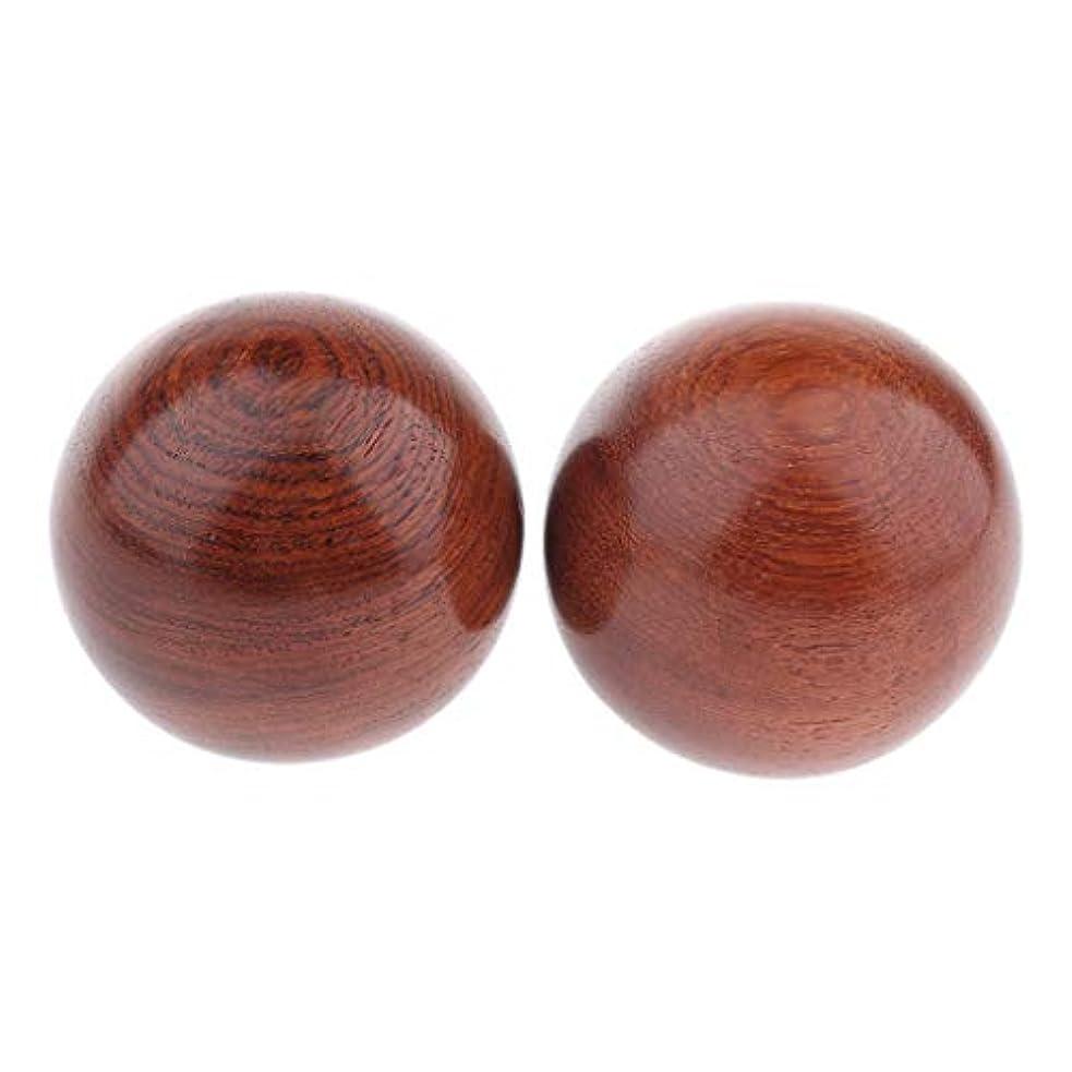 非難肘病弱FLAMEER 2個 木製ヒースボール マッサージボール 3サイズ選べ - 説明のとおり, 6cm