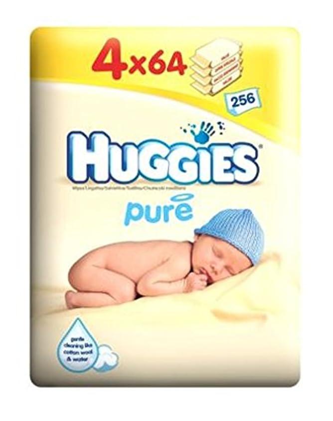 ハギーズ純粋なワイプクアッドパック - 4×64パックワイプ (Huggies) (x2) - Huggies Pure Wipes Quad Pack - 4 x 64 Pack Wipes (Pack of 2) [...