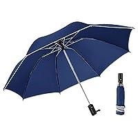 ZHQJP 折りたたみ傘 レディース 逆さ傘 軽量 8本骨 高強度 折りたたみ 耐水 耐風 持ち便利 自動開閉 (Color : E ブルー, Size : フリー)
