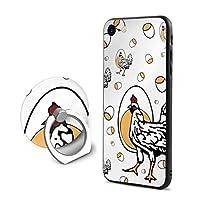 鶏と卵 Iphone6Plus ケース/Iphone6s Plus ケース Cases リング付き ソフト TPU 軽量 薄型 擦り傷防止 取り出し易い 携帯カバー 落下防止 柔らかい オシャレ 耐衝撃 ケース カバー