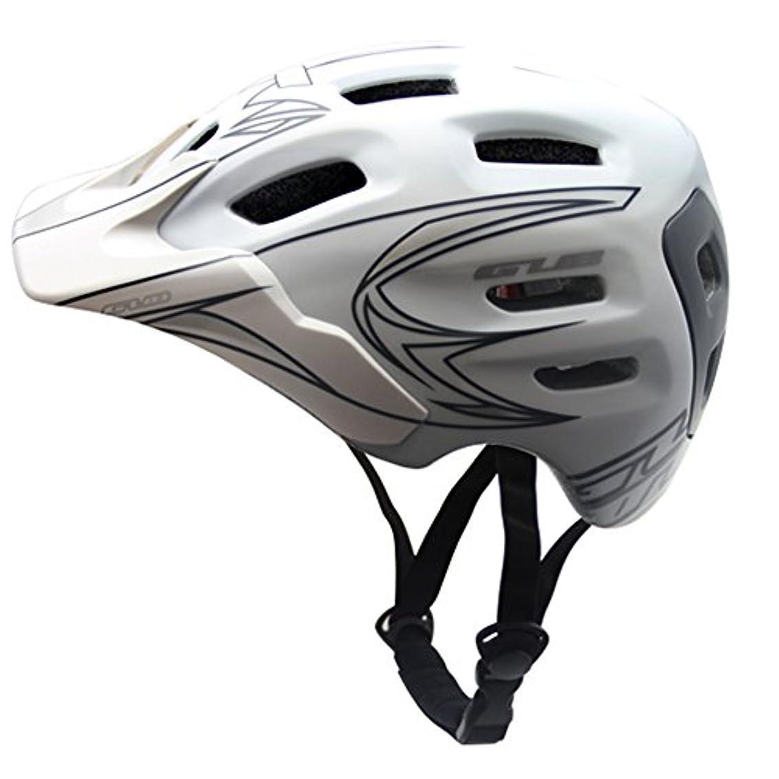 パンチ脚本家テストK-outdoor ライディングヘルメット 自転車ヘルメット マウンテンバイクヘルメット スポーツプロテクター ホワイトM