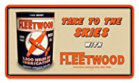 なまけ者雑貨屋 Fleetwood Oil ブリキ看板 アメリカン 壁掛けプレート レトロ雑貨 インテリア