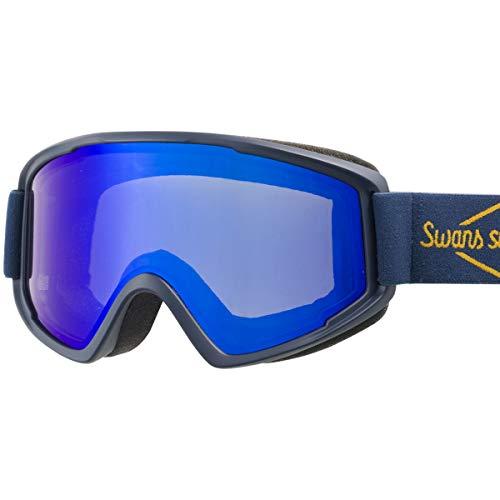SWANS(スワンズ) スキー スノーボード ミラー ゴーグル くもり止め メガネ対応 大人用 男女兼用 100MDH NAV