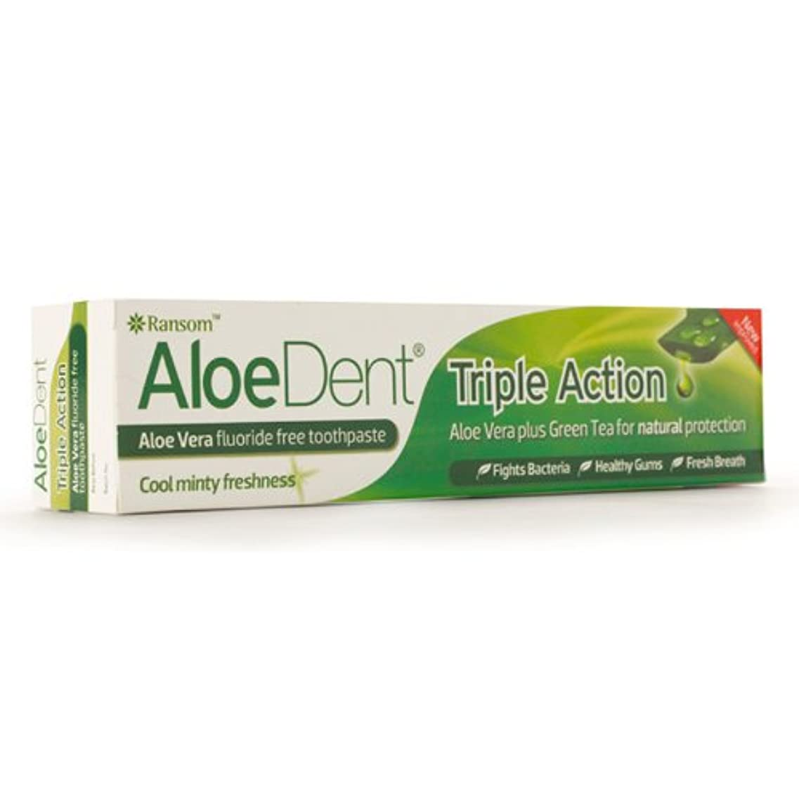 優勢ピグマリオン軽くAloeDent Triple Action Aloe Vera Fluoride Free Toothpaste 100ml