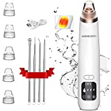 Blackhead Remover [AUSELECT] Vacuum Skin Pore Cleaner Heat Function Electric Facial Cleaner Acne Comedone Extractor Kit