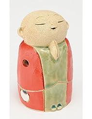 お地蔵様 香炉シリーズ 赤 お地蔵様 香炉 3.5寸(小) [H10.5cm] HANDMADE プレゼント ギフト 和食器 かわいい インテリア