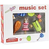 BEESCLOVER ベビー おもちゃ ラトルおもちゃ 打楽器 セット ハンドベル 砂 ハンマー 音楽 おもちゃ