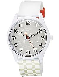 90c6d03ea7 [キューアンドキュー スマイルソーラー]Q&Q SmileSolar 腕時計 ソーラー アナログ ウレタンベルト シルバー ホワイト