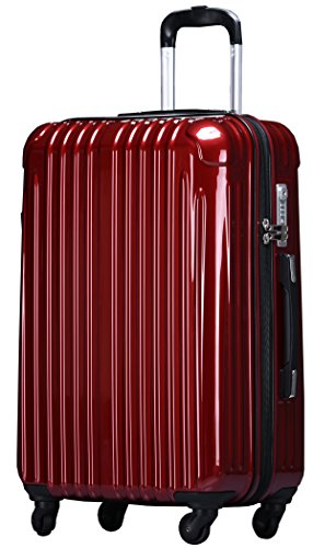ラッキーパンダ スーツケース TY001 TSAロック ファスナータイプ 2年間修理保証 ワインレッド Sサイズ