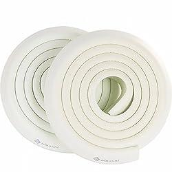 HIGASHI コーナーガード コーナークッション 2M×2本 8色 両面テープ付 国内検査済 赤ちゃん 舐めても安心 かじれる けが防止厚手 ホワイト