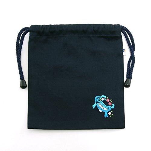 手刺繍【ベル】巾着バッグ(小)・コップ入れ・入園入学お受験に