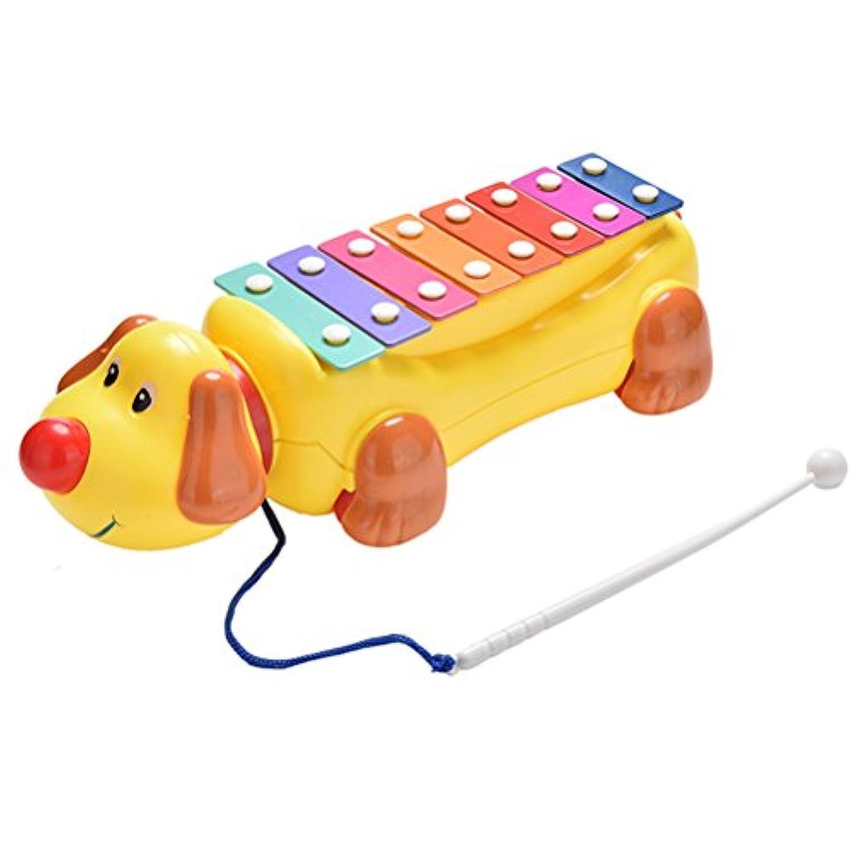 JETTINGBUY 1 x子犬ドラッグピアノ幼児用犬音楽おもちゃ