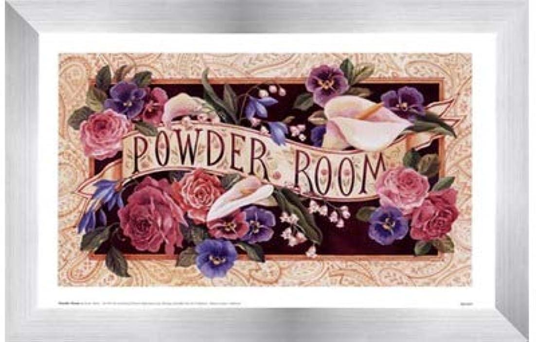 重なるアンティークおもしろいPowder Room by Karen Avery – 11 x 7インチ – アートプリントポスター LE_47468-F9935-11x7