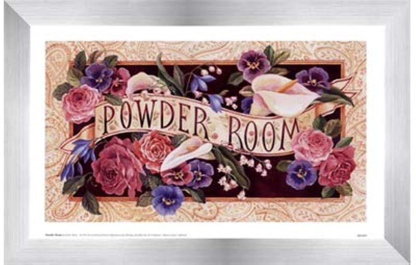 用心旧正月覆すPowder Room by Karen Avery – 11 x 7インチ – アートプリントポスター LE_47468-F9935-11x7