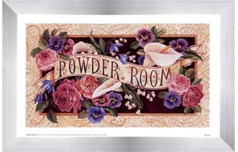 拍車下線出来事Powder Room by Karen Avery – 11 x 7インチ – アートプリントポスター LE_47468-F9935-11x7
