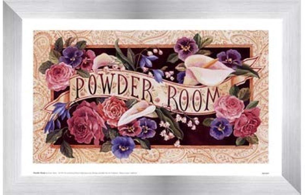 降下円形ハーフPowder Room by Karen Avery – 11 x 7インチ – アートプリントポスター LE_47468-F9935-11x7