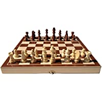 Folding Wooden Chess Set With Magnet Closure Kids Gift Fun