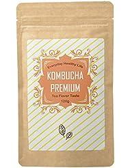 コンブチャプレミアム (KOMBUCHA PREMIUM) ストレートティー味 日本製 粉末 飲料 [内容量120g /説明書付き]