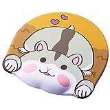 エレコム マウスパッド アニマルマウスパッド リストレスト付き もちもちほっぺ ハムスター MP-AN03HAM
