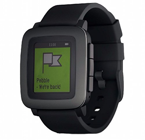 Pebble Time スマートウォッチ 腕時計 (ブラック) [並行輸入品...
