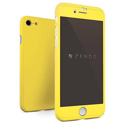NanoSkin ナノスキン iPhone 8 / 7 (4.7インチ)アイフォンフルカバーケース (レモンイエロー)