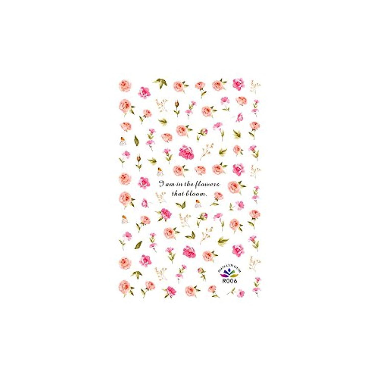機会ペニー車両ネイルシール アンティークローズシール ジェルネイル ネイルアート 花柄 花びら フラワーネイル 薔薇 セルフネイル