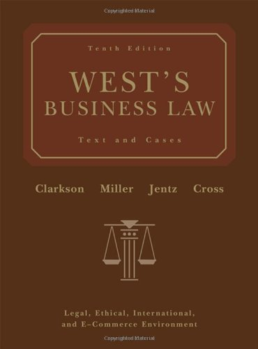 Download West's Business Law: Text and Cases 0324303904