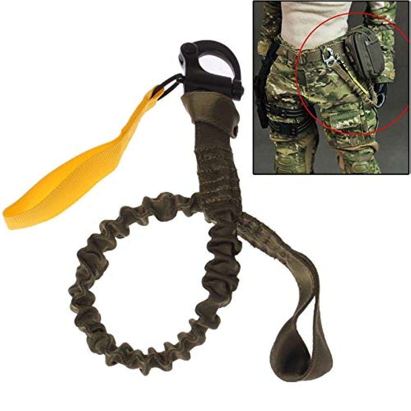 すぐに土制限分離安全ストラップストラップロープ クイックリリースバックル安全ロープ (色 : アーミーグリーン)