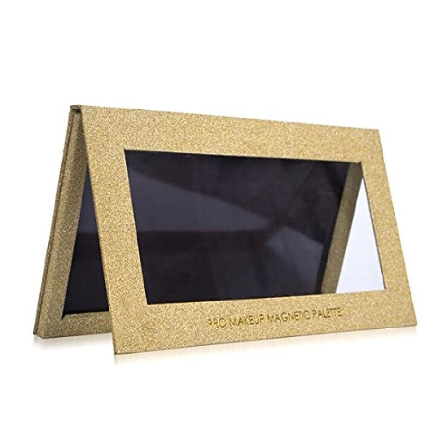 小数通常アジャVodisa パレット アイシャドウケース DIY 化粧 Lサイズ ゴールド (L)
