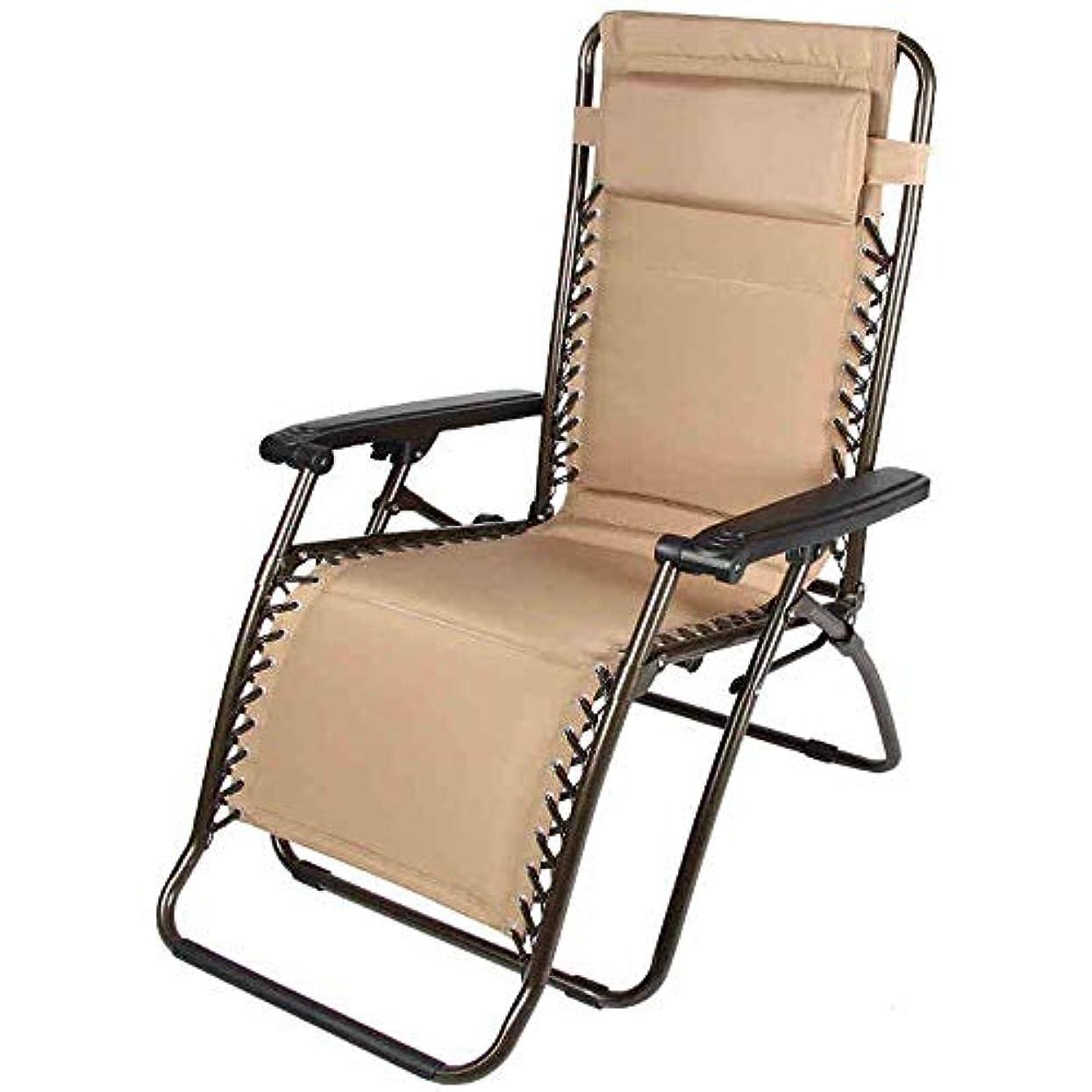 ピル毎月中絶ロッキングチェアゼロ重力ラウンジチェア枕調節可能な折りたたみリクライニングチェア屋外パティオチェアブラウン