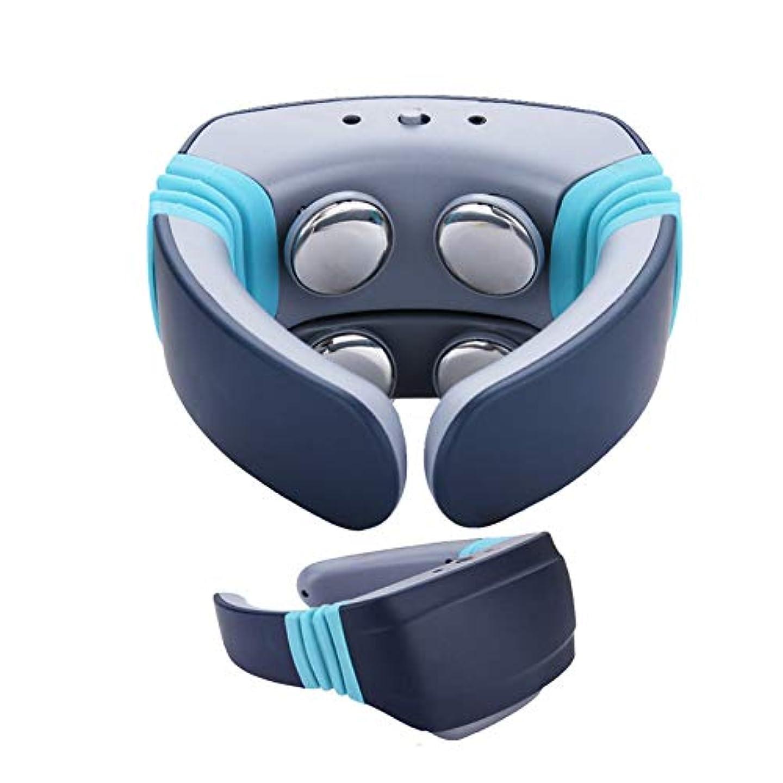不愉快九空気ヒートディープティッシュ3Dニーディング、電動指圧バックネック、ショルダーマッサージを備えた首のマッサージャーが筋肉痛を和らげます