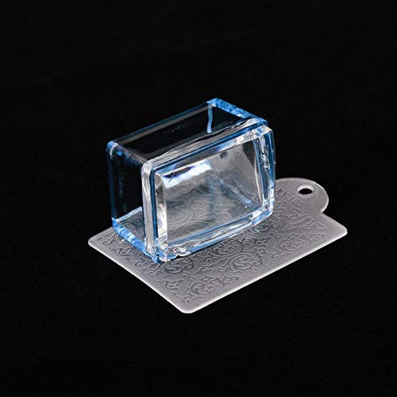 生産性単なる注文AAcreatspaceファッションDIYネイル印刷テンプレート長方形鋼ネイルアートスタンピングテンプレートマニキュアプリントスタンパーキット