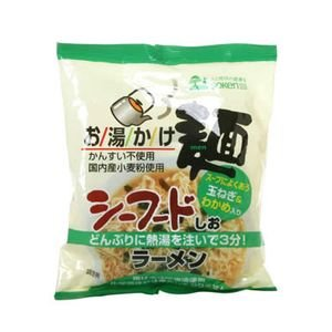 創健社 お湯かけ麺(化学調味料不使用) シーフードしおラーメン 78g
