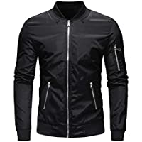 TOTNMC Men's Causal Lightweight Jacket Bomber Varsity Jacket Windbreaker Full Zip Up Jacket Coat
