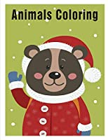 Animals Coloring: coloring pages,Christmas Book for kids and children (Animals in detail)