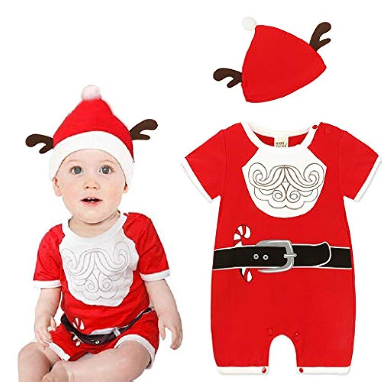 週間哀破壊的MISFIY 赤ちゃん ベビー服 着ぐるみ サンタ柄 カバーオール ロンパース キッズ コスチューム パジャマ 男の子 女の子 柔らかい かわいい カジュアル おしゃれ 出産祝い クリスマス