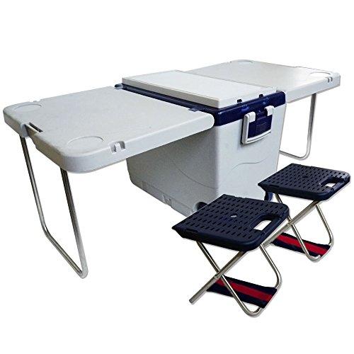 テーブル&椅子付クーラーボックス キャスター付 Prairie House プレイリーハウス[XO822]
