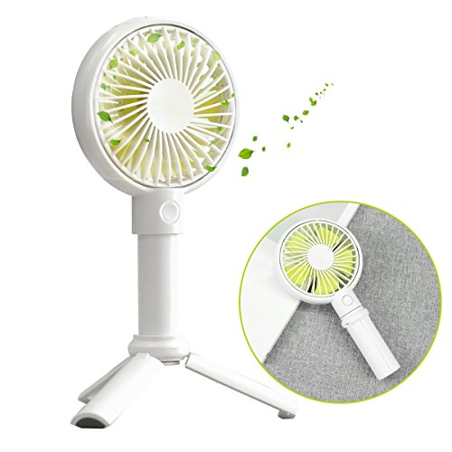 Benks 手持ちファン 携帯扇風機 USB扇風機 ミニ扇風機 手持ち/卓上両用 3段階風量調節 静音 熱中症対策 スマホスタンド機能付き 高度角度調節可能(3色)(3350mAh, ホワイト)