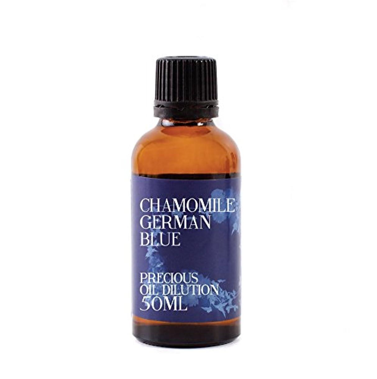 引く電信反論者Mystic Moments | Chamomile German Blue Essential Oil Dilution - 50ml - 3% Jojoba Blend