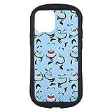 グルマンディーズ ディズニーキャラクター/iPhone12 mini(5.4インチ)対応 ハイブリッドクリアケース ジーニー DN-820C