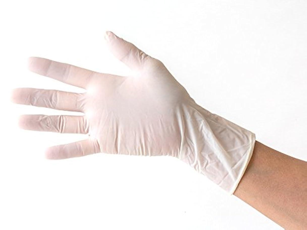 補助修士号アセラテックス 使い捨て天然ゴム 極薄手袋 パウダータイプ 100枚入り Mサイズ