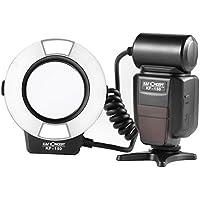 マクロリングフラッシュ K&F Concept マクロリングライト Nikon用 i-TTL機能対応 接写撮影 フォーカスライト付き Nikon デジタル一眼レフカメラに対応 レンズアダプター6枚付き (Nikonカメラ適用) KF-150