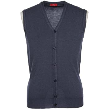 Garment Dyed V-neck Sweater Vest: Navy