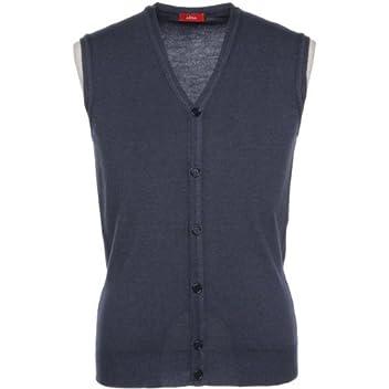 Garment Dyed V-neck Sweater Vest: Navy